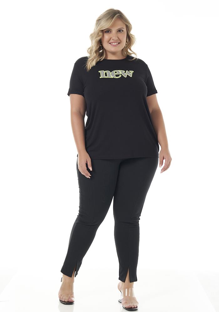 T-Shirt Lisa com Aplique