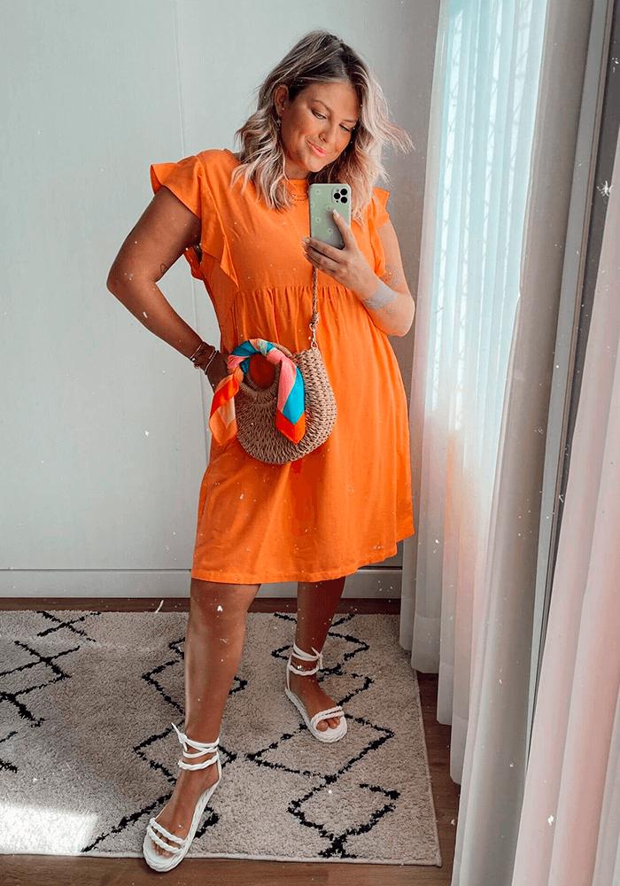 Vestido de Linho com Bolso