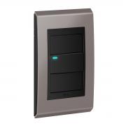 Conjunto 1 Interruptor LED - Refinatto Concept- Champanhe / Preto