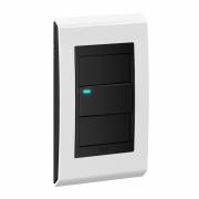 Conjunto 1 Interruptor LED - Refinatto Premium - Branco Alto Brilho / Preto
