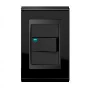 Conjunto 1 Interruptor LED - Refinatto Premium - Preto Alto Brilho / Preto