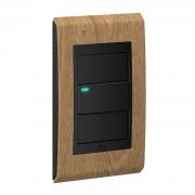 Conjunto 1 Interruptor LED - Refinatto Concept- Avelã / Preto