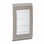 Conjunto 1 Interruptor LED - Refinatto Style - Argila / Branco