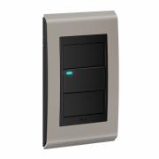 Conjunto 1 Interruptor LED - Refinatto Style - Argila / Preto