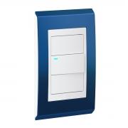 Conjunto 1 Interruptor LED - Refinatto Style - Classic Blue / Branco