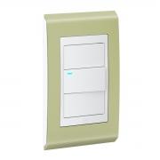 Conjunto 1 Interruptor LED - Refinatto Style - Pistache / Branco