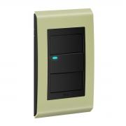 Conjunto 1 Interruptor LED - Refinatto Style - Pistache / Preto
