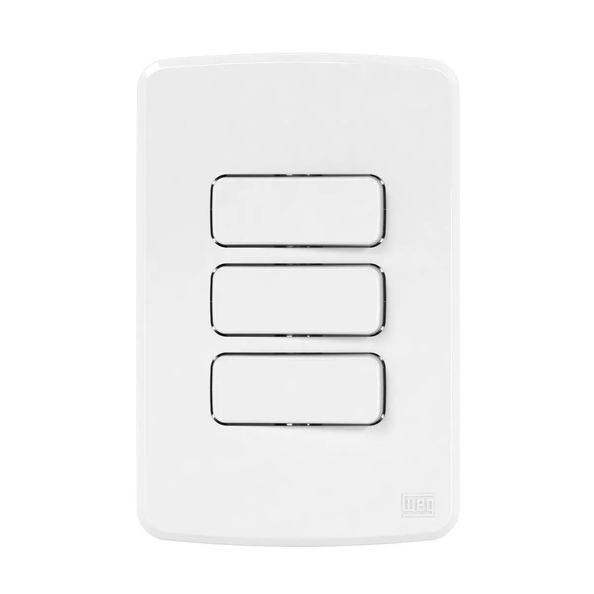 2Interruptor Simples+ 1Paralelo10A/250V Placa 4X2 Composé Br