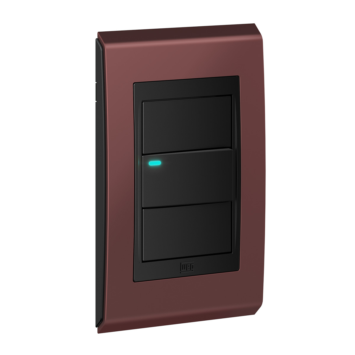 Conjunto 1 Interruptor LED - Refinatto Concept - Vinho / Preto