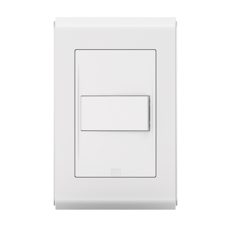 Conjunto 1 Interruptor Paralelo- Refinatto Style - Br/Br - Acetinado