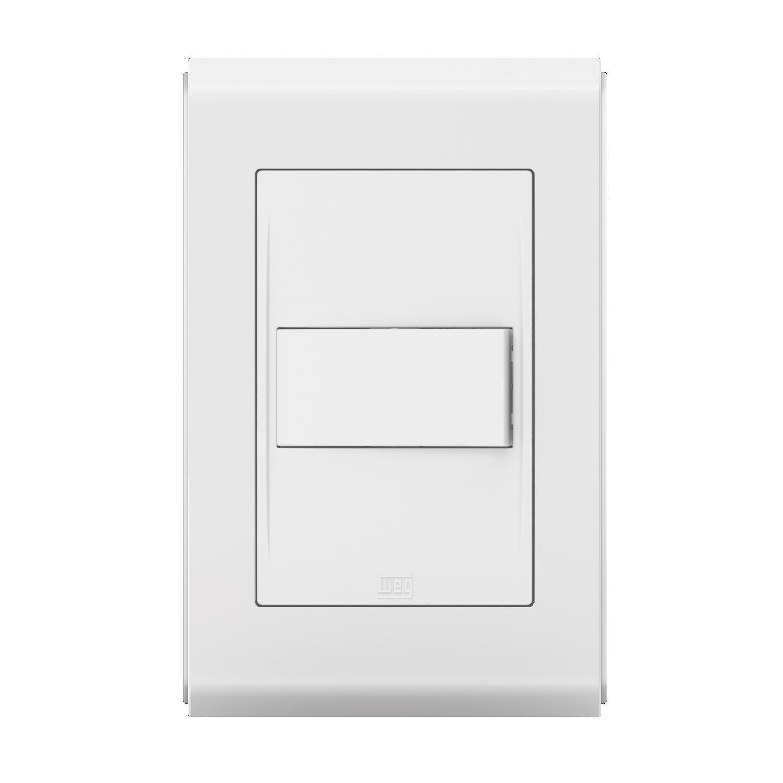 Conjunto 1 Interruptor Simples - Refinatto Style - Br/Br - Acetinado