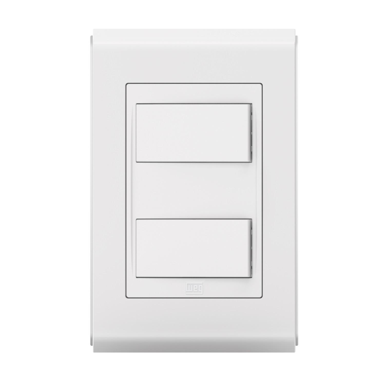 Conjunto 2 Interruptor Simples - Refinatto Style - Br/Br - Acetinado