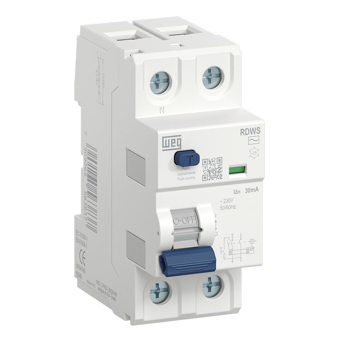Interruptor Diferencial Residual Rdws-Ac-30-40-2