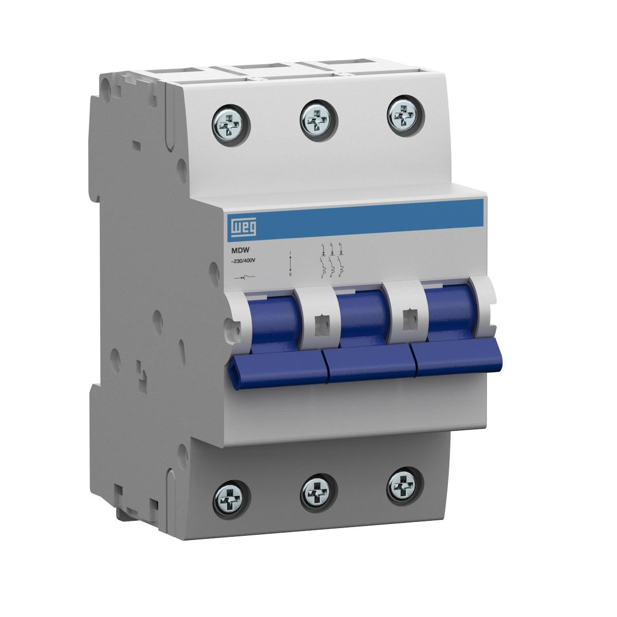 Minidisjuntor Termomagnético Weg Mdw-C16-3