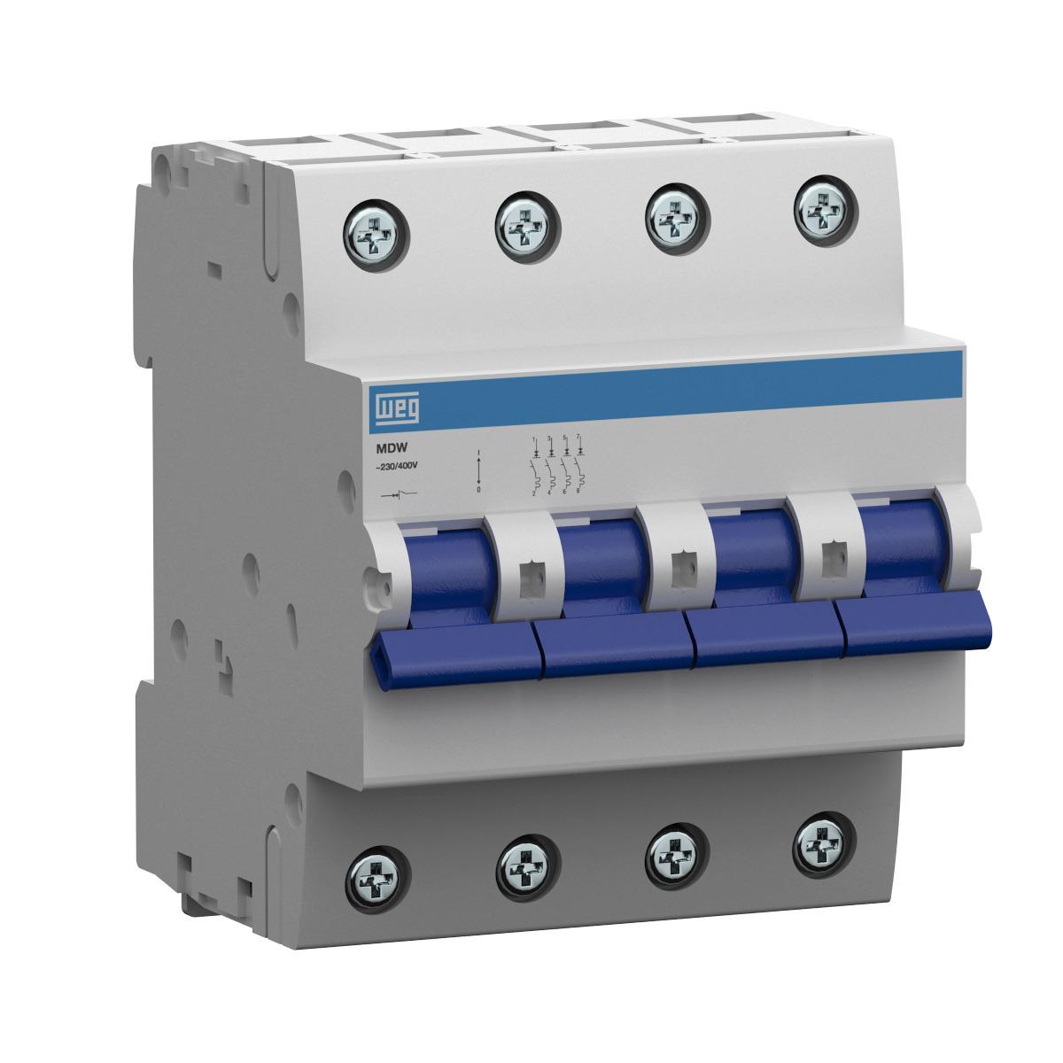Minidisjuntor Termomagnético WEG MDW-C50-4 (entrega em 5 dias)
