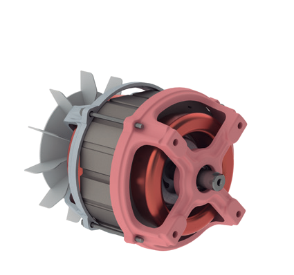 Motor Elétrico Monofásico - Betoneiras Menegotti 1/2CV 04 42Z 127/220 60Hz B14D IP00  WCA1