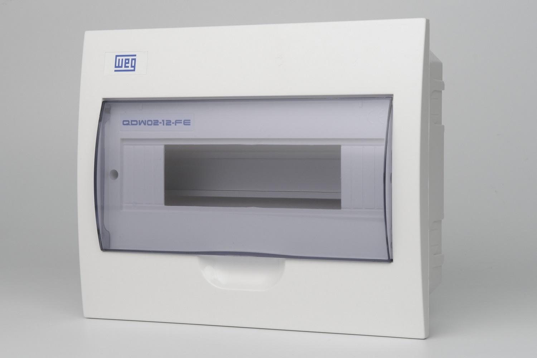Quadro Distribuicao Para 12 Disjuntores WEG - Embutir  (QDW02-12-FE) (entrega em 5 dias)