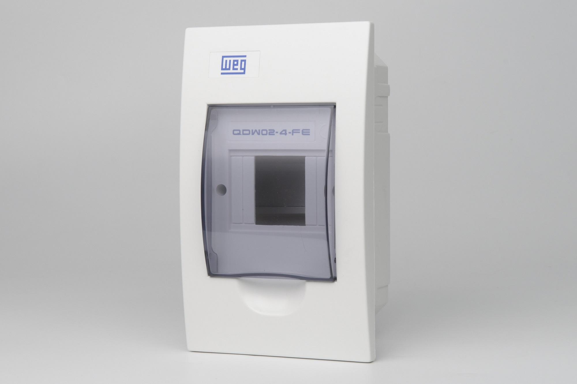 Quadro Distribuicao Para 4 Disjuntores WEG - Embutir  (QDW02-4-FE) (entrega em 5 dias)