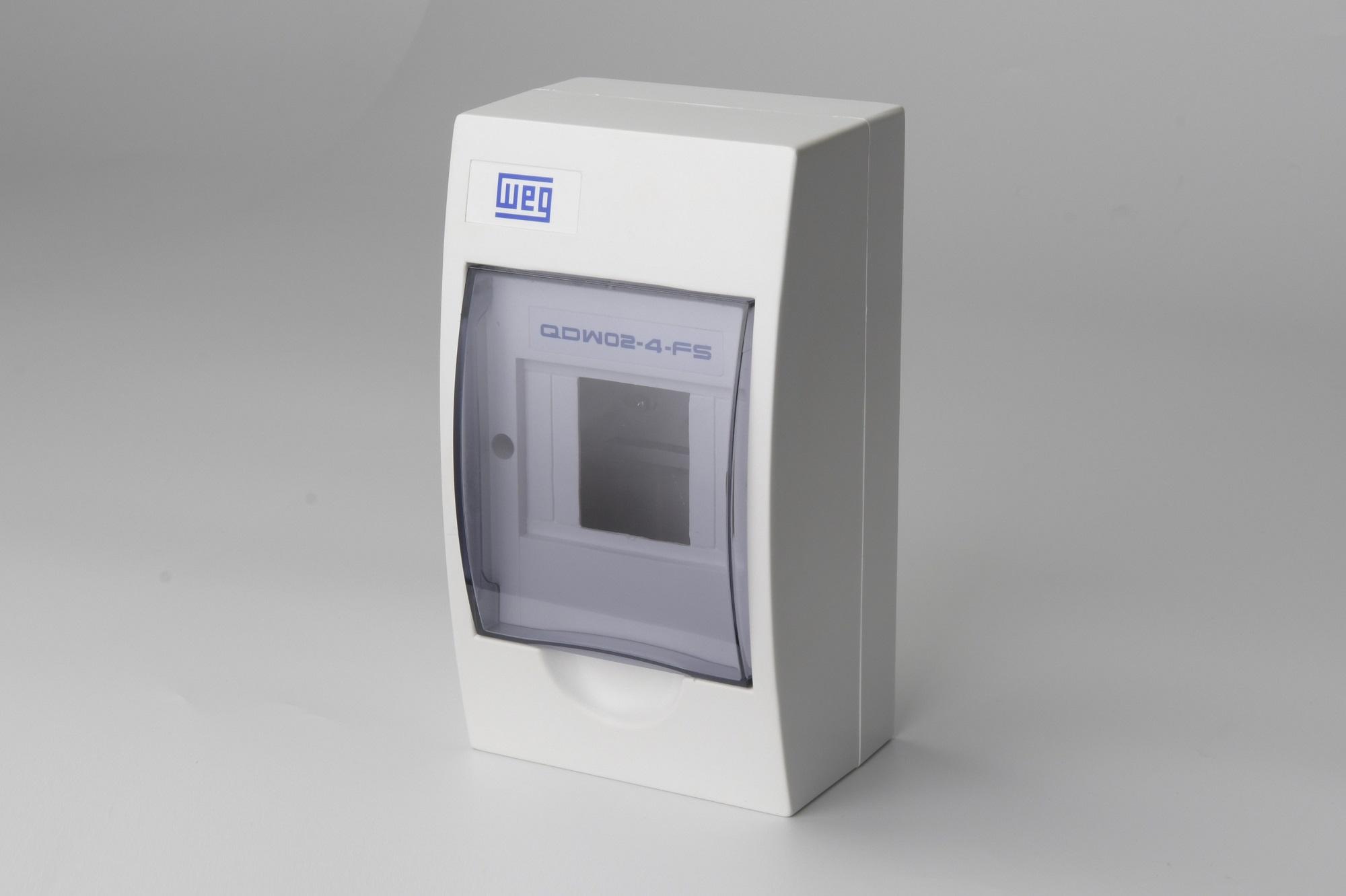 Quadro Distribuicao Para 4 Disjuntores Weg - Sobrepor  (Qdw02-4-Fs)