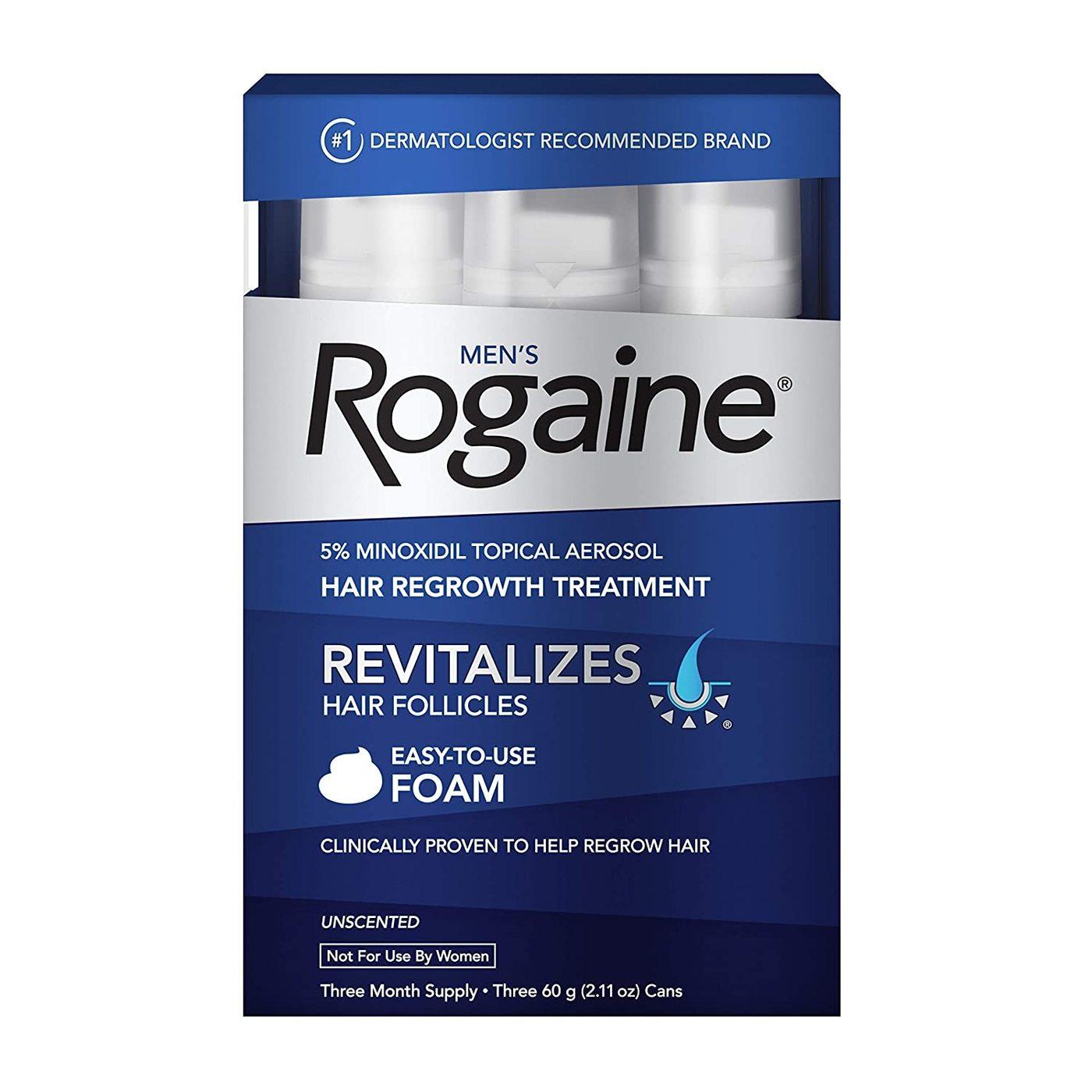 (IMPORTAÇÃO EUA) ROGAINE MINOXIDIL 5% ESPUMA (1 CAIXA)