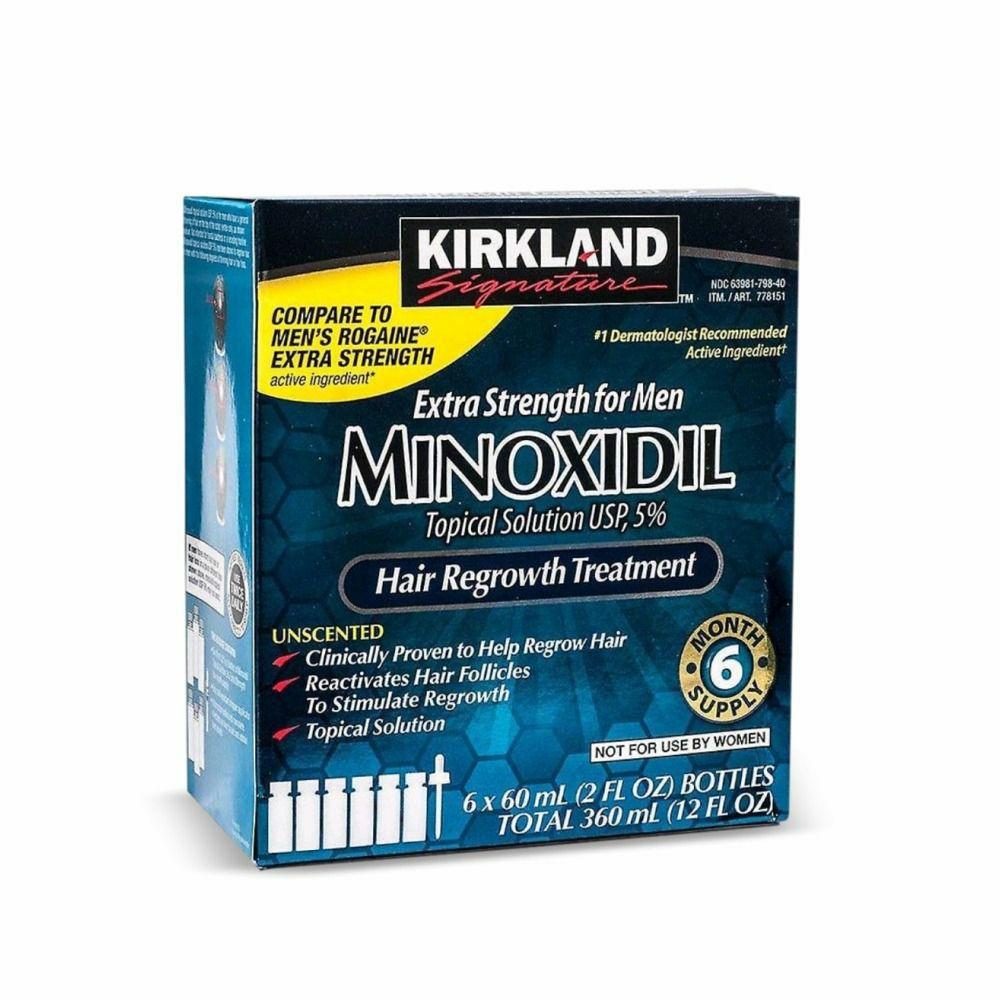 IMPORTAÇÃO EUA KIRKLAND MINOXIDIL 5% (1 CAIXA)