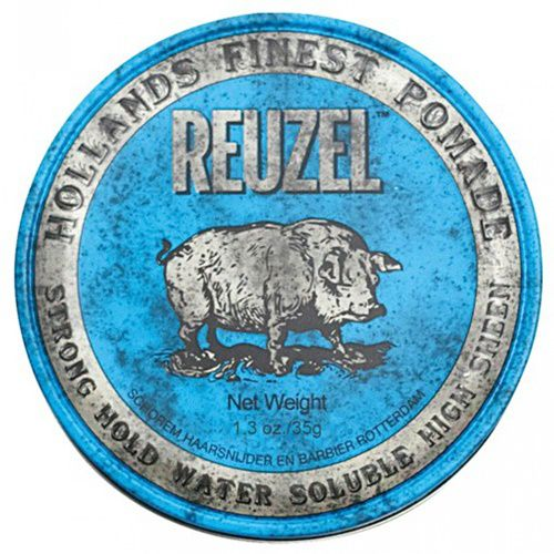 Pomada Reuzel Azul Strong Hold Water Soluble High Sheen 35g