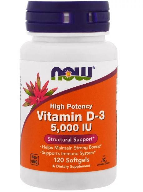 Vitamina D 10.000 UI 120 Cápsulas de Gel - Now Foods