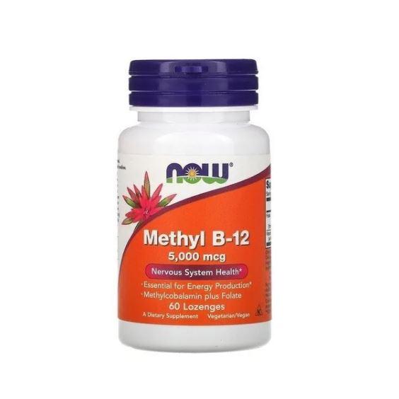 Vitamina Methyl B12  5.000 mcg 60 cápsulas - Now Foods
