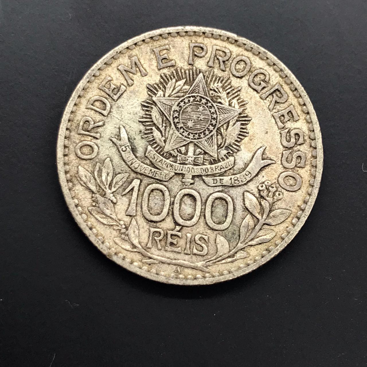 1000 réis 1913 Prata Estrelas Soltas