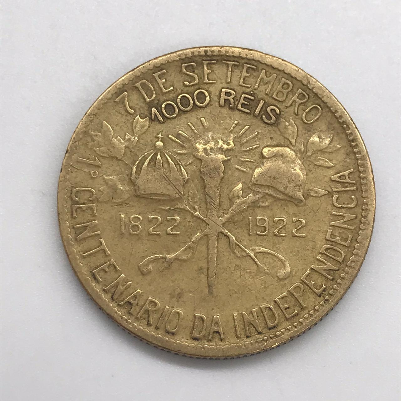 1000 RÉIS 1922 CENTENÁRIO DA INDEPENDÊNCIA