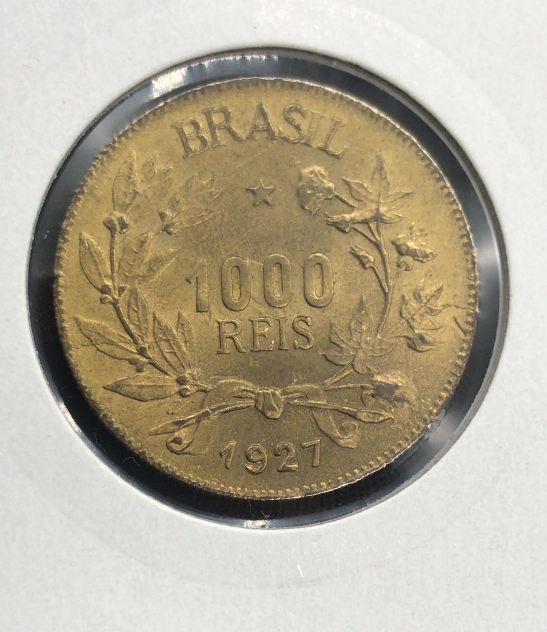 1000 RÉIS 1927 - FLOR DE CUNHO