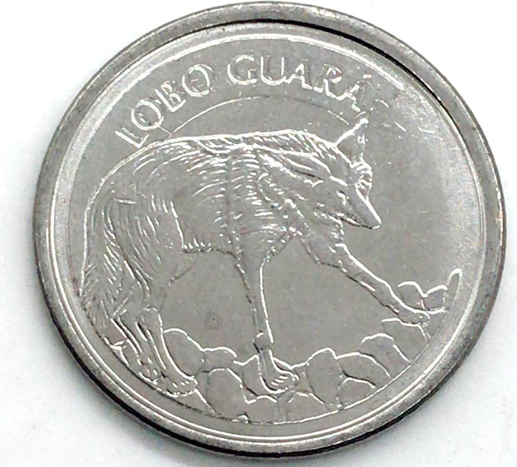 100 Cruzeiros Reais 1993 LOBO GUARÁ Sob