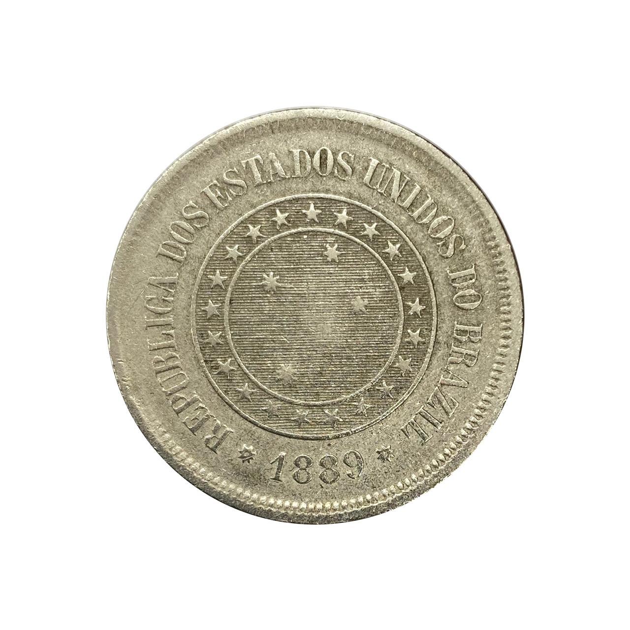 Moeda Brasil 100 Réis 1889 MBC