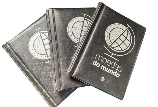 10 Albuns moedas  do Mundo V1