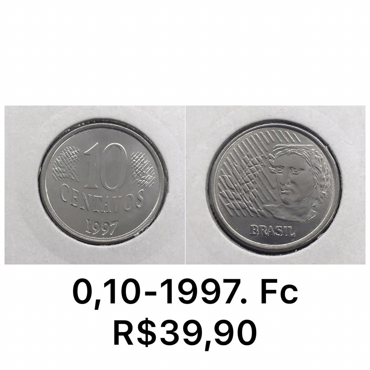 10 CENTAVOS 1997 FLOR DE CUNHO