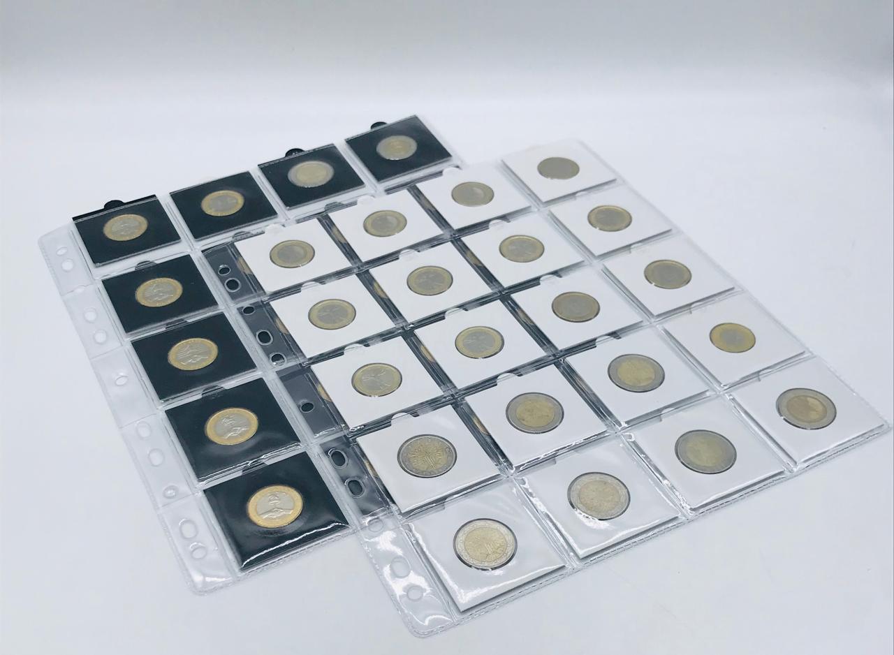 10 FOLHAS PARA MOEDAS EM Coin Holder  SEM ABA (5x5)