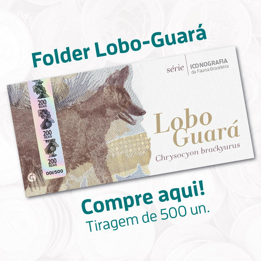Pré-venda Folder Lobo-Guará