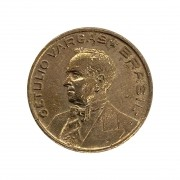 10 centavos 1942 Getúlio Vargas  Níquel Rosa MBC