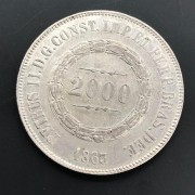 2000 réis 1863. Prata