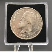 2000 Réis 1889- Império (Prata )