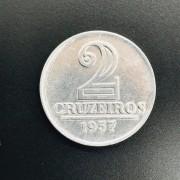 2 CRUZEIROS 1957 ALUMINIO  ESCASSA