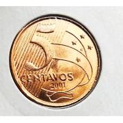 5 CENTAVOS 2001-FC