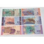 6  cédulas Fauna da Venezuela