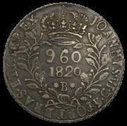 960 reis 1820 B sobre lima 1809