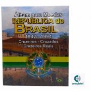 Álbum de Moedas República do Brasil 1942 a 1994