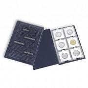 Album LEUCHTTURM para 60 moedas em coin holder  AZUL. No 325026