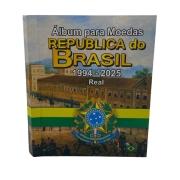 Álbum para Moedas da República do Brasil Real 1994 a 2025