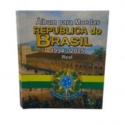Álbum para moedas da Republica do Brasil Real 1994 a 2025