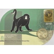 Blister Fauna Peru 1 Sol 2019 Macaco Choro-de-cauda-amarela FC