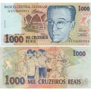 C238 Cédula Brasil 1000 Cruzeiros Reais 1993 Anísio Teixeira SOB